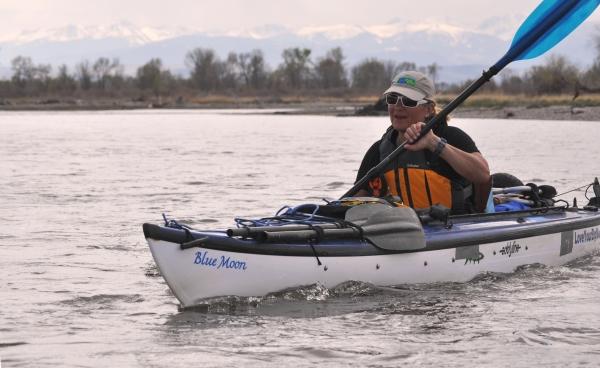 Janet Moreland Missouri River Paddling