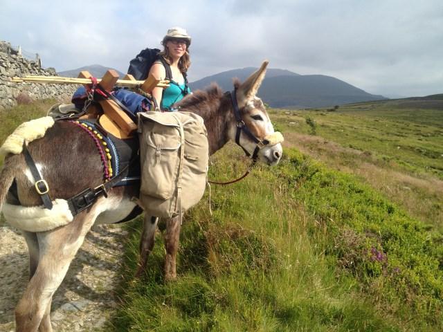 Walking with donkey Hannah Engelkamp