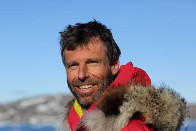 Kite skiing Greenland