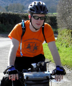Tom Bruce cycling around the world