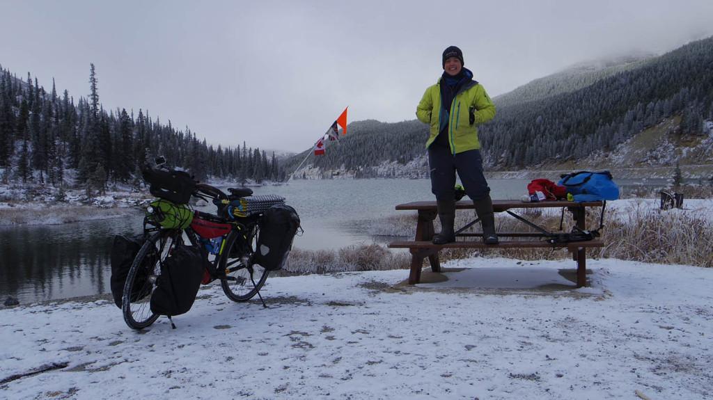 Sarah Outen winter cycling